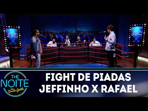 Piadas engraçadas - Fight de Piadas Jeffinho x Rafael Marinho  The Noite (16/05/18)