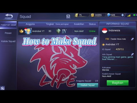 Cara Membuat Squad Gratis Join Mobile Legends | Feeder Boss Indo