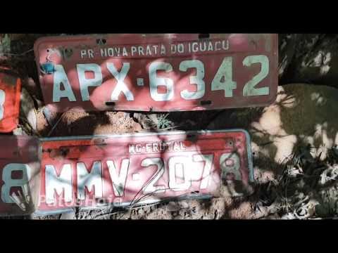 Lixo jogado em mata nos fundos do Planalto contém diversas peças e até placas de veículos