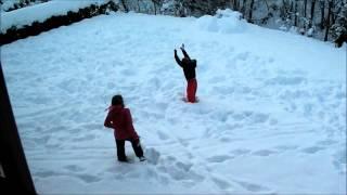Turnen In De Sneeuw