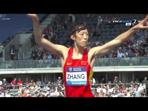 Zhang Guowei 2.32 ( Birmingham Diamond League 2016. High jump men )