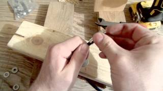 Stuff you will need...- 1 scrap 2x4 board about a foot long- 2 scrap 2x4s 4 inches to foot long (They are used to raise the foot long board off the table.)- 1 scrap 1x4, 3 to 5 inches long - 1/2 in. drill bit- 1/8 in. drill bit- Three 1/4 in. washers- Three 7/16 in. washers- Three #10 wood screws 1 inch long- compression type coaxial connectors (bought mine off of amazon)- coaxial cable (I used old cable that Dish left behind when we canceled our service years ago) - drill- side cutters, heavy duty scissors, or a sharp knife- ruler- Screwdriver for wood screwsIf you are looking for an even quicker method than check this video out.https://youtu.be/4DzDHQN6guwDisclaimer: All products used in this video were purchased by me and all video content is my own and has been edited by me, Matthew Fox.Note: Filmed using a Samsung WB250F