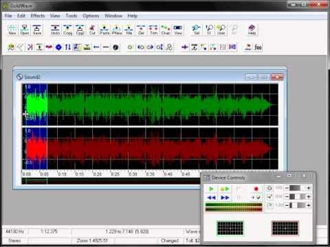 شرح برنامج تحرير الصوتيات Goldwave