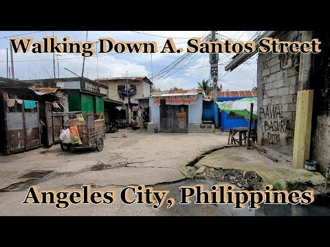 Walking Down A. Santos Street - The Other End : Angeles City, Philippines
