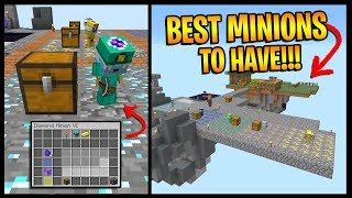 How To Get The BEST MINIONS On Hypixel Skyblock... *UPGRADES, TIERS, STORAGE TIPS!!!*