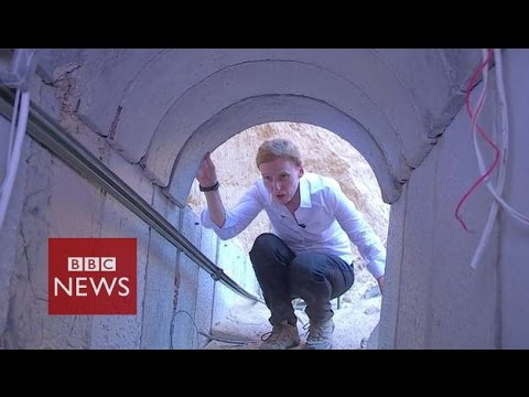 tunnel - The BBC's Orla Guerin was given access by the Israeli military to one tunnel near the Gaza border. Israel says its deadly offensive in Gaza will continue unt...