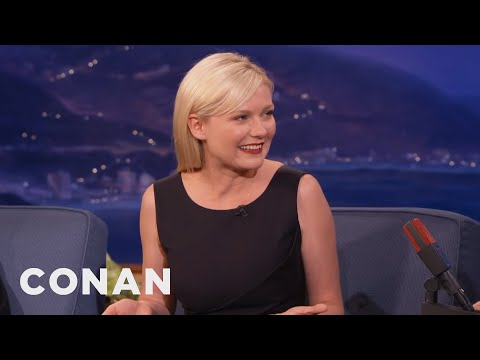 Kirsten Dunst - Don't get too excited; Kirsten was only 11 years old, and thought the whole thing was pretty icky. More CONAN @ http://teamcoco.com/video Team Coco is the of...