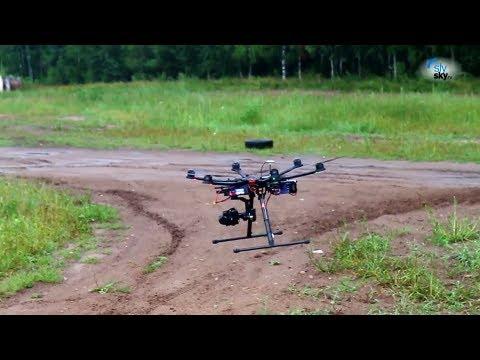 Moto SlySky. Moto movie SlySky make fly of DJI S-800, Zenmuse Z-15, SONY Nex-7 (16m)