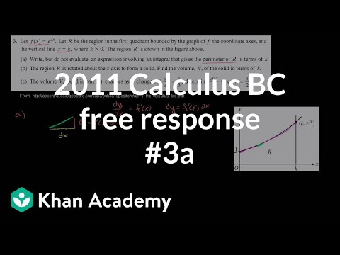 2011 Calculus BC Free Response 3a Video Khan Academy