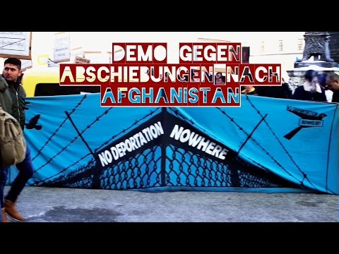 Demo gegen Abschiebungen nach Afghanistan 21.1.2017 in München