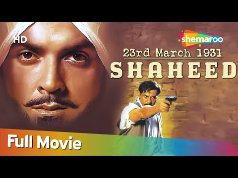 23 March 1931 Shaheed (HD) Hindi Full Movie| Bobby Deol |Sunny Deol | Amrita Singh | Bollywood Movie