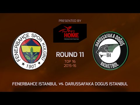 Highlights: Top 16, Round 11, Fenerbahce Istanbul 77-69 Darussafaka Dogus Istanbul