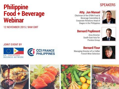 Philippine Food and Beverage Webinar