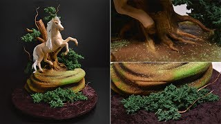 https://www.yenersway.com/tutorials/centerpieces/prancing-horse-in-the-woods-cake/This is an introduction as well as a free sample from our Prancing Horse in the Woods Cake at Yeners Way. The full tutorial can be found at the link above.