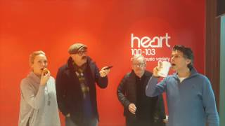 Robin and Adele from Heart Breakfast challenged Ford and Grege aka Jack & victor to a real life Still Game. Who would stay still the longest?