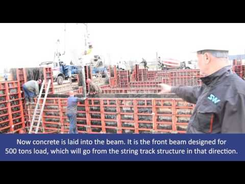 EcoTechnoPark: laying of concrete