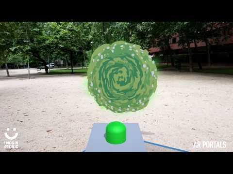 Augmented reality. Rick & Morty Portal