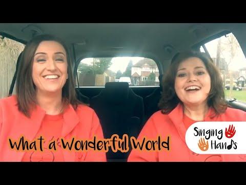 Makaton Carpool Karaoke - Wonderful World - Singing Hands