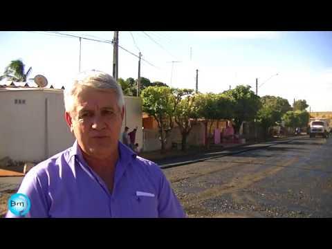 Santa Albertina - Prefeito Tuquinha de Santa Albertina, anuncia quase 6 km de asfalto para Cidade de emendas Parlamentares.