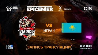 Empire vs Team KZ, EPICENTER XL CIS, game 1 [Adekvat, LighTofHeaveN]