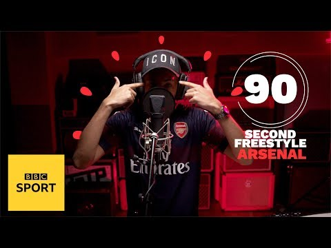 Yizzy Drops A Wild Arsenal Freestyle In 90 Seconds | BBC Sport