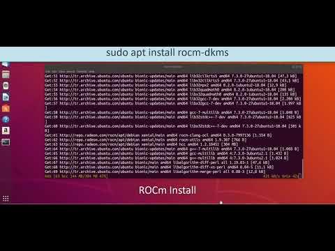 ROCm AMD Radeon driver Install Linux Ubuntu 18.xx  AMD Vega