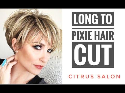 Hair cutting - GIRLS LONG TO SHORT PIXIE HAIR CUT MAKEOVER