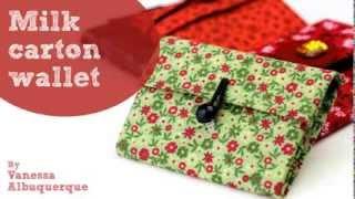 Milk carton wallet - Do it yourself
