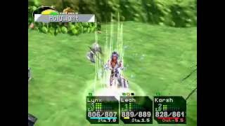 Holy Light attack performed by Karsh in the Game Chrono Cross.