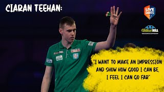 Ciaran Teehan reacts to debut win at the PDC World Championship