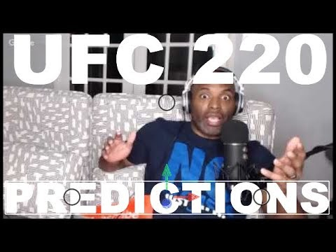 UFC 220 MIOCIC VS NGANNOU MAIN CARD PREDICTION PODCAST(MMA FOR DUMMIES)