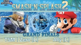Smash'N'Splash 2 GRAND FINALS – TSM | Zero [W] (Sheik, Cloud, Diddy) vs Ally [L] (Mario)