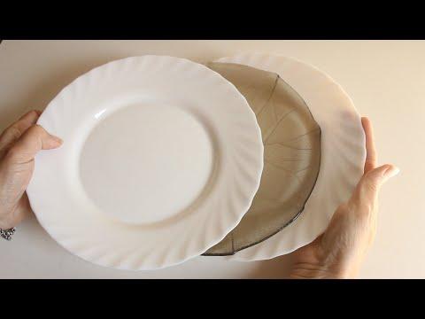5 Ideas fáciles para decorar platos de vidrio 🌼Platos decorados 😍 Técnicas decorativas 💕Arte en casa