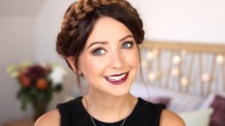 Autumn/Fall Makeup | Gold Eyes&Berry Lips | Zoella
