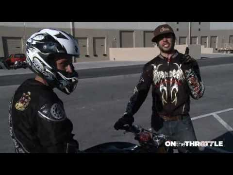 wheelie - http://sportbikewrench.com/ XDL Champion Nick Apex and Ernie Vigil show us how the wheelie is done. Whether you're an aspiring stunter or a racer that just w...