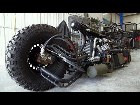 """Kozacka maszyna. Motocykl zrobiony z tego, co było pod """"ręką"""""""