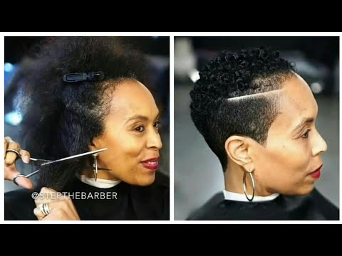 Short hair styles - Short Afro Hairstyles For Women  Cut By Step The Barber  Atlanta