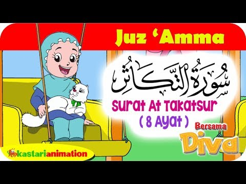 QS AT TAKATSUR | Mengaji Juz Amma bersama Diva | Kastari Animation Official