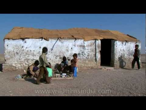 Desert school in India's lonesome salt desert!