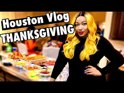 HOUSTON FOR THE FIRST TIME FOR THANKSGIVING!!! | FRIENDSGIVING + THANKSGIVING VLOG | VLOGMAS 1