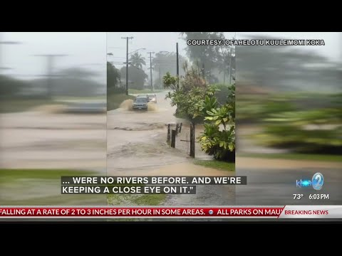 Severe flooding in Hawaii