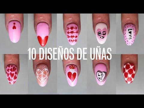 Uñas decoradas - 10 HERMOSOS DISEÑOS DE UÑAS DECORADAS PASO A PASO  CORAZONES