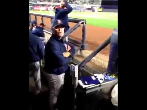 BOSTON RED SOX MANAGER JOHN FARRELL TELLS FAN TO SHUT HIS ASS UP ( MUST SEE)