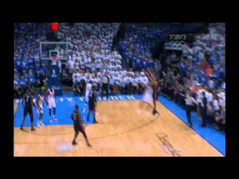 Battier - Shane Battier 17 points (5 3 pointers) vs Oklahoma city Thunder full highlights GM2 2012 NBA FINALS 06.14 game 2 miami heat beat series 1 1 incredible dunk p...