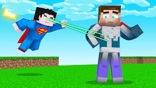 I Used XRAY On My Friends In MINECRAFT! (Minecraft Superman Mod)