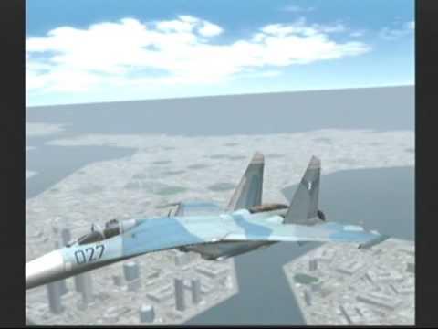 Su-27(プレイヤーが操作)が後方から銃撃するF-15(AIが操作)をコブラによりオーバーシュートさせ、逆に後方を取って撃墜します。