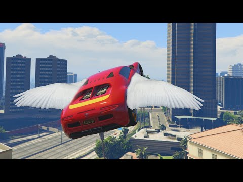 FLYING CARS #80085 (GTA V Funny Moments)