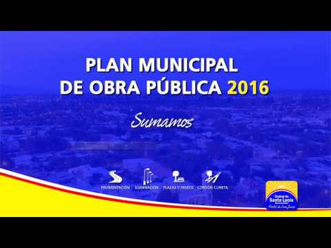 PLAN MUNICIPAL DE OBRA PÚBLICA 2016