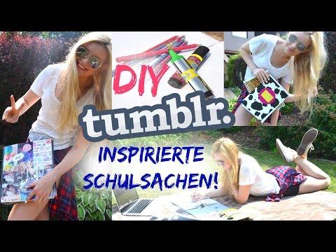 DIY TUMBLR inspirierte SCHULSACHEN - BACK TO SCHOOL #1