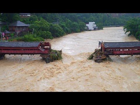 Κίνα: Θάνατος και χάος σκόρπισε ο τυφώνας Μεράντι